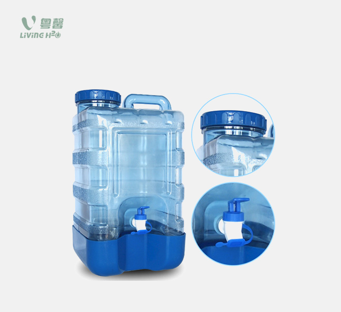 15L PC square water bottle